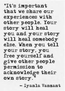 vanzant quote re story sharing